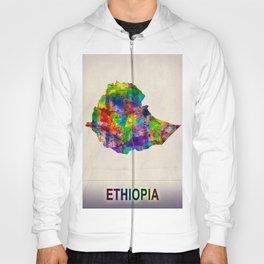 Ethiopia Map in Watercolor Hoody