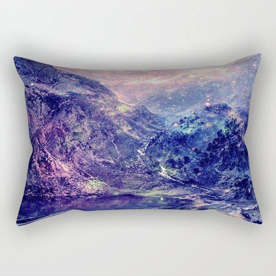 Galaxy Mountains : Deep Pastels Rectangular Pillow