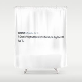 Deep Thought #2 Shower Curtain
