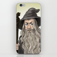 gandalf iPhone & iPod Skins featuring Gandalf by quietsnooze