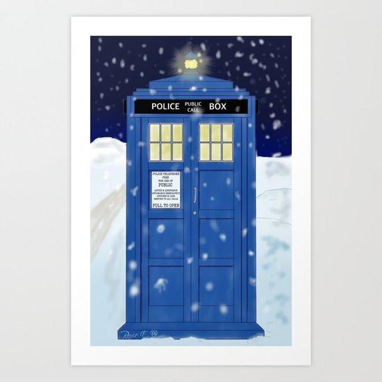 Doctor Who's TARDIS Art Print