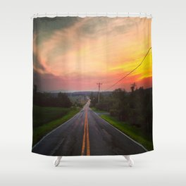 Sunset Over Fish & Game Road Shower Curtain