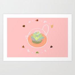 Tea Pot Succulent Art Print