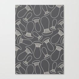 king oyster mushrooms Canvas Print