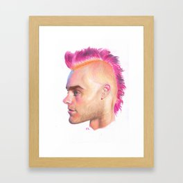 Pink Leto Framed Art Print