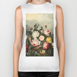 Pink  Red Floral : New Illustration Of The Sexual System Biker Tank