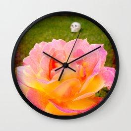 Flower and Skull Wall Clock