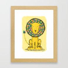 Rainbow Lion Framed Art Print