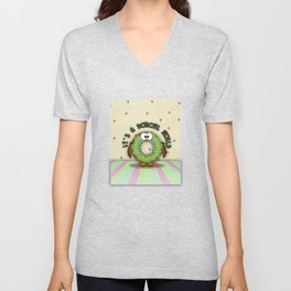 it's a donowl world with kiwi flavor Unisex V-Neck