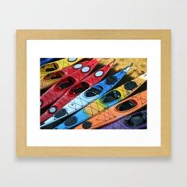 Kayaks at Rockport Framed Art Print