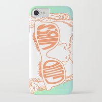 good vibes iPhone & iPod Cases featuring GOOD VIBES by YTRKMR