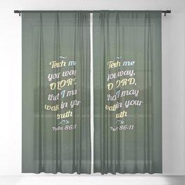 Teach Me Sheer Curtain