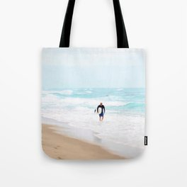 Surfer Defeat Tote Bag