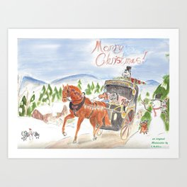 Christmas in Horse Valley Art Print