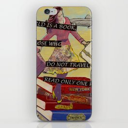 Travel The World Through Books iPhone Skin