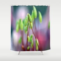 kate moss Shower Curtains featuring Moss  by LoRo  Art & Pictures