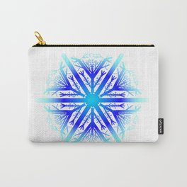 Blue Snowflake Design Carry-All Pouch