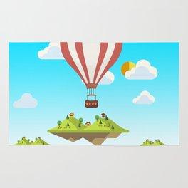 flying islands Rug