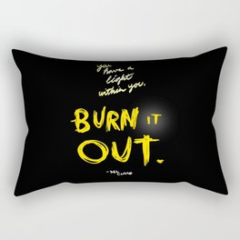 Burn it Out Rectangular Pillow