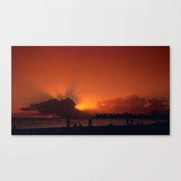 Hawaii Sunset - Ala Moana Beach Canvas Print