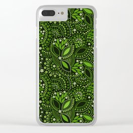 Scattering beads, green Clear iPhone Case