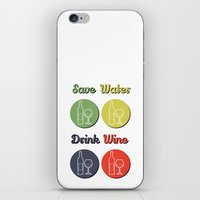 wine iPhone & iPod Skins featuring wine by flydesign