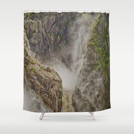 Beautiful waterfall in the rainforest Shower Curtain