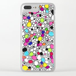 Circles and Other Shapes and colors Clear iPhone Case
