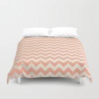 peach Duvet Covers featuring Peach by C Designz