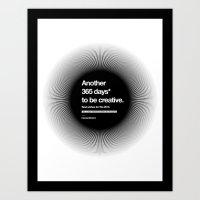 365 Days - Black Art Print