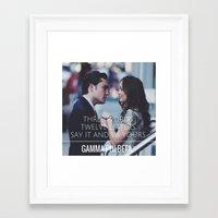 gossip girl Framed Art Prints featuring Gamma Phi Beta & Gossip Girl by Leona LA