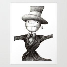 Mr. Turnip Head Art Print