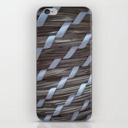 Wooden braids iPhone Skin