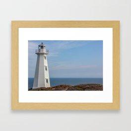 lighthouse Cape Spear Framed Art Print