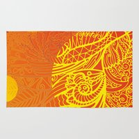 orange pattern Area & Throw Rugs featuring Orange Pattern by RifKhas