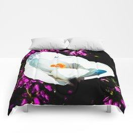 Crocus In Flower Bed Comforters