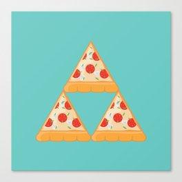 Tri-Pizza Canvas Print