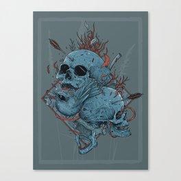 Bird and Skulls Canvas Print