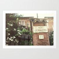 Villa Les Violettes Art Print