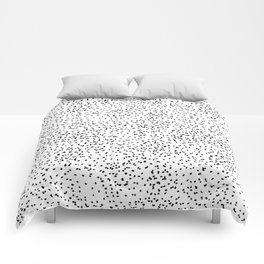 Black and white dots Comforters