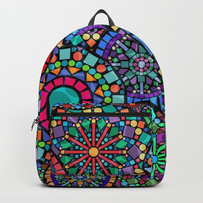 Colorful Geometric Pattern Backpack
