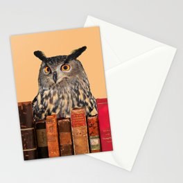 Old Books and Owl Stationery Cards