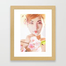Geisha In Sunlight Framed Art Print