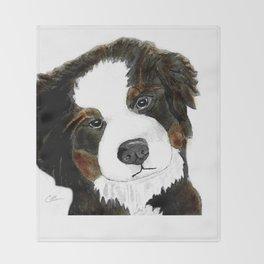 Bernese Mountain Dog Love Throw Blanket