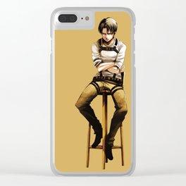 Levi Sit Down Clear iPhone Case