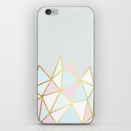 Gold & Pastel Geometric Pattern iPhone Skin