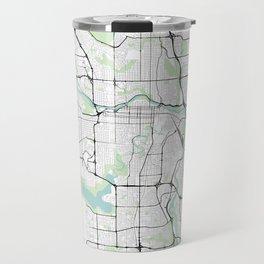 Calgary, Canada City Map with GPS Coordinates Travel Mug