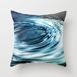 Ripples In Motion Throw Pillow