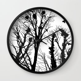 rooks and trees 2 Wall Clock
