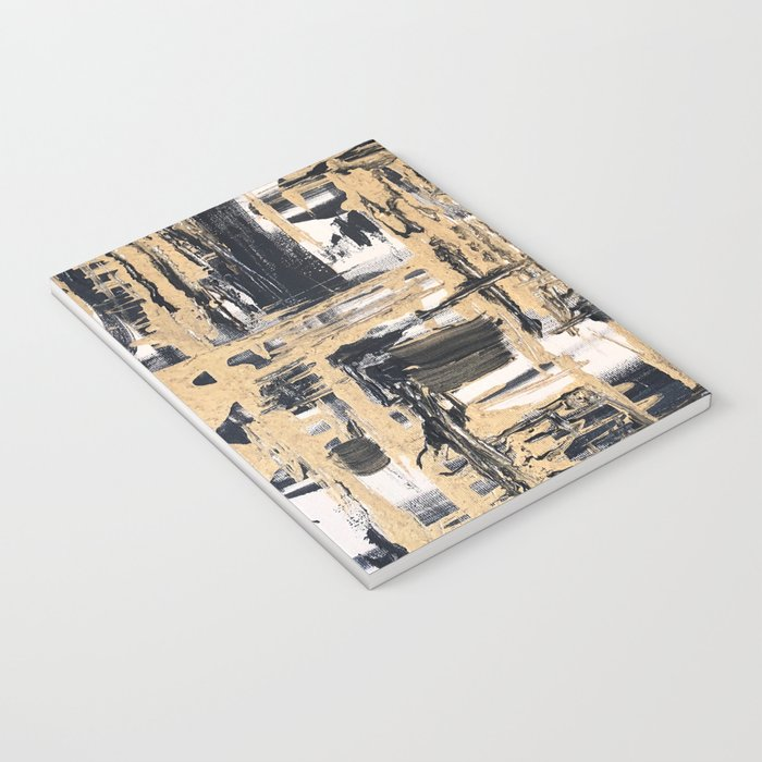 Black and Gold abstract painting Notebook